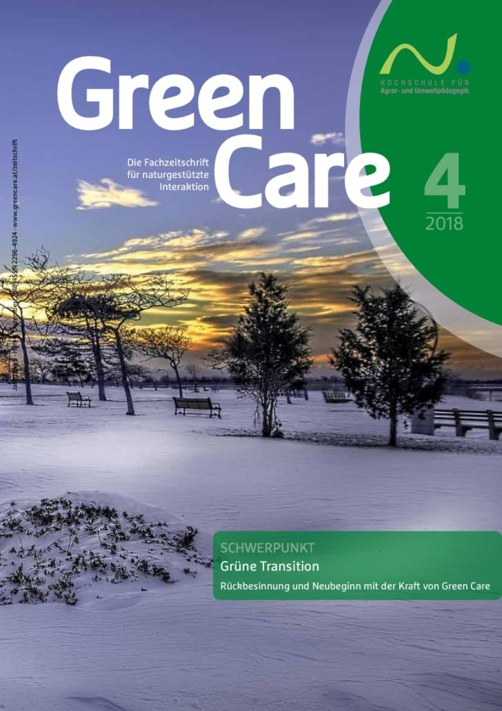 Grüne Transition – Ausgabe 4/2018 Cover