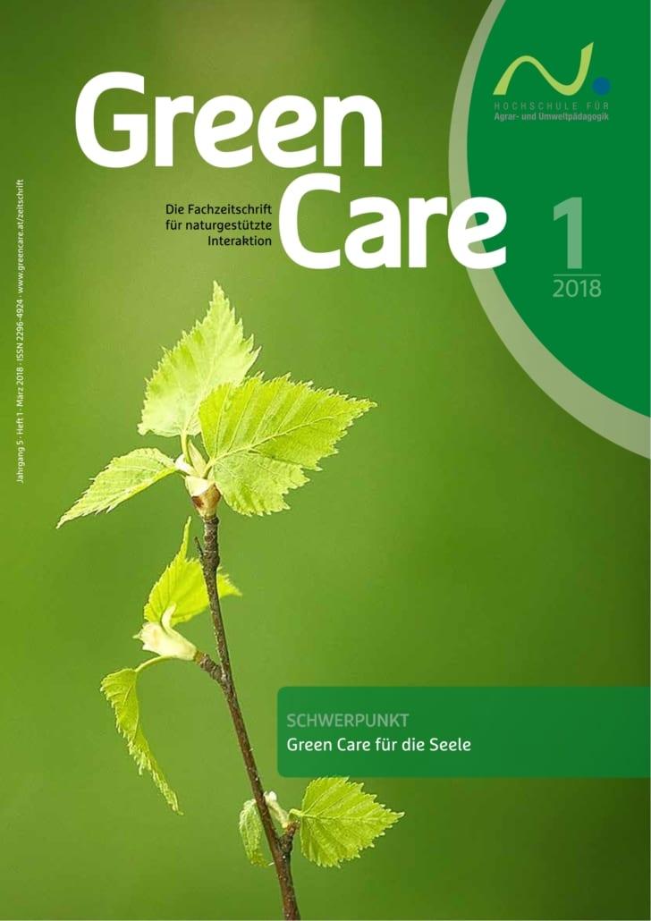 Green Care für die Seele – Ausgabe 1/2018 Cover