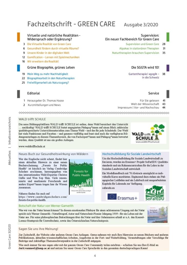 Herbstausgabe 3/2020 Inhaltsverzeichnis